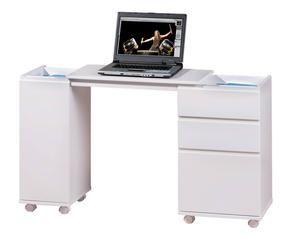Amazing scrivania in legno con basi scorrevoli movida max for Scrivanie ufficio economiche