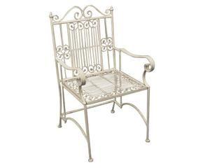 cm Sedia in ferro battuto Linosa Set di 2 sedie pieghevoli in ferro ...