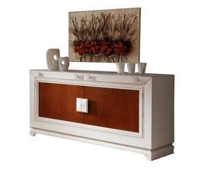 Credenza Moderna Ciliegio : Parete attrezzata in ciliegio soggiorno legno dalani e ora