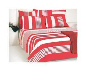 Tessuti a righe alternanza di linee colorate dalani e ora westwing - Copriletto matrimoniale rosso ...