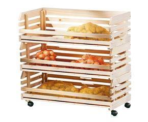 Westwing portafrutta in legno decorazioni di classe in - Carrello portafrutta legno ...