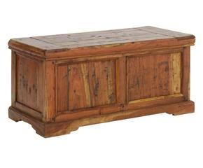 Cassapanca in legno grezzo la natura in casa dalani e for Cassapanca contenitore legno