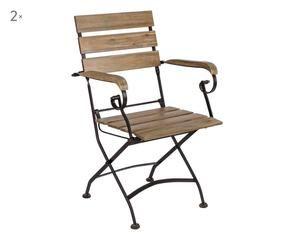 Sedie da giardino in ferro arredo outdoor di classe for Sedie ferro legno