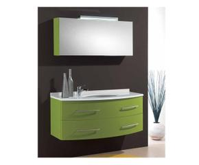 composizione bagno perseo verde specchio contenitore
