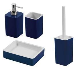 Mobile bagno blu accessori per una stanza di relax - Bagno blu e bianco ...