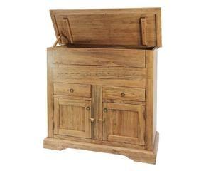 Madia in legno grezzo fascino country in casa dalani e - Madia mobile antico ...