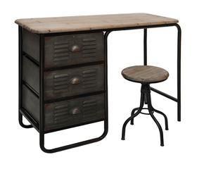 Scrivania Ufficio Industriale : Scrivania pelle scrittoio tavolo ufficio arredo design