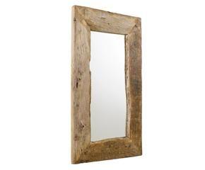 Mooie landelijke scandinavische houten spiegels westwing for Houten spiegel