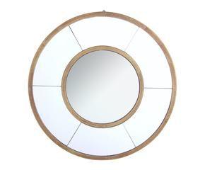 Spiegel Rond Hout : Ronde houten spiegel awesome spiegel rond kantelbaar verouderd