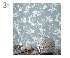 Prachtig blauw behang in je interieur | Westwing