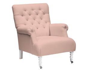 Licht Roze Stoel : Als een prinses op de troon in een roze fauteuil westwing