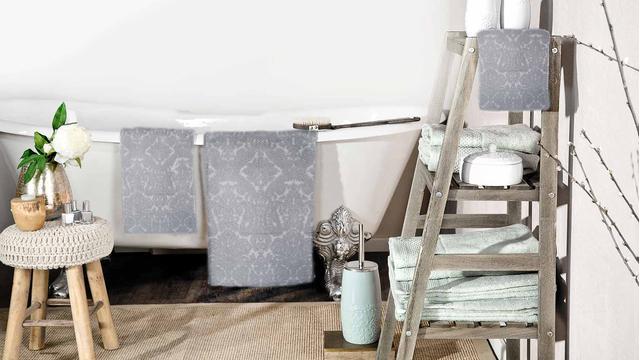 Szykowne tekstylia łazienkowe