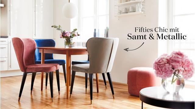 Samt-Stuhl CLEO