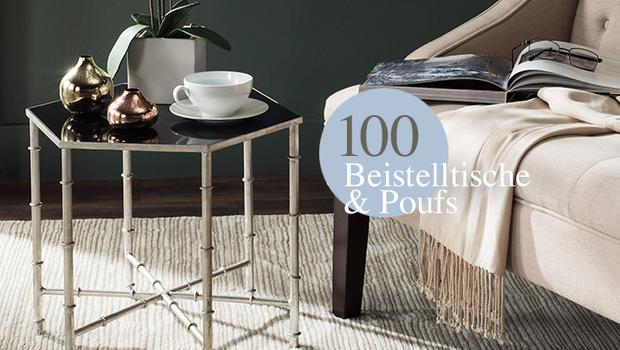 100 Poufs & Sidetables