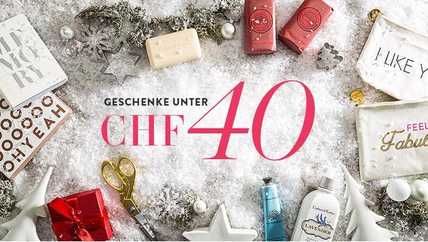 Geschenke unter CHF 40