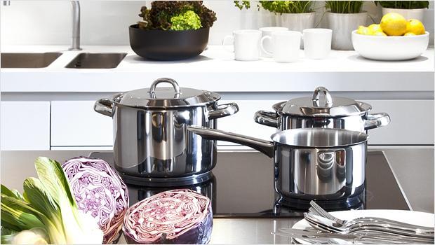 Schlichte Küchen-Basics