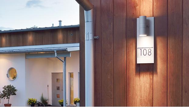 Leuchtende Hausnummern