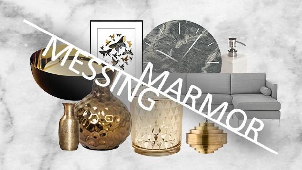 Marmor trifft Messing