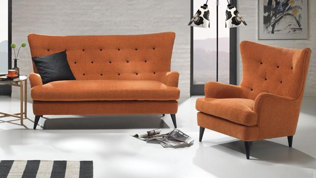 Sofas und Sessel im Retro-Stil