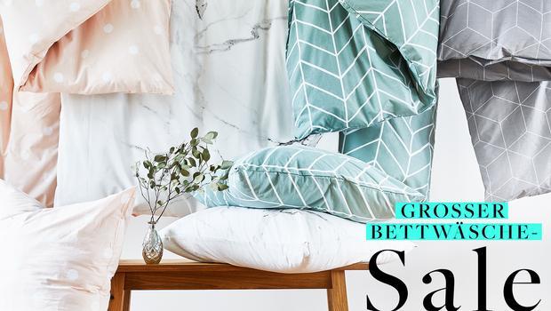 Grosser Bettwäsche-Sale