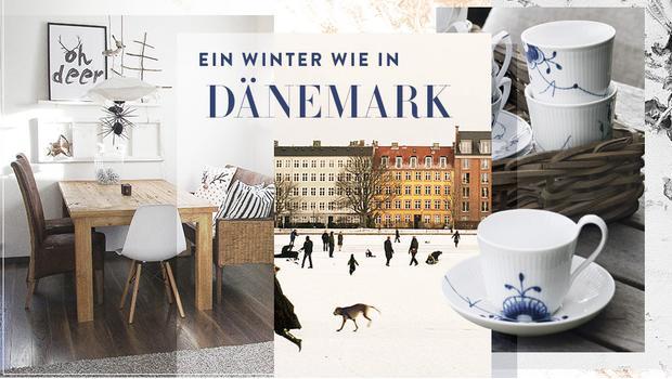 Ein dänisches Winter-Haus