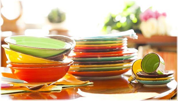 Farbenprächtige Tableware