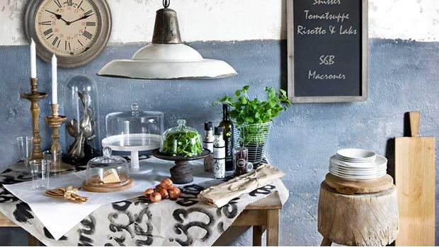 V rustikální kuchyni