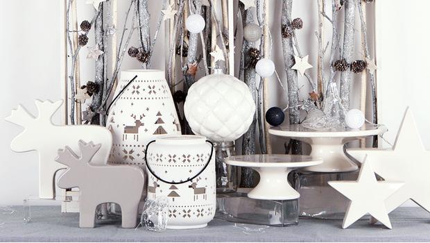 Vánoce v bílé a stříbrné