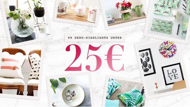 99 Deko-Highlights unter 25 €
