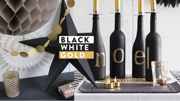 Schwarz, Weiß & Gold