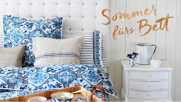 Schlafzimmer in Sommerlaune