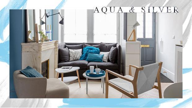 Sanfte Aqua-Nuancen