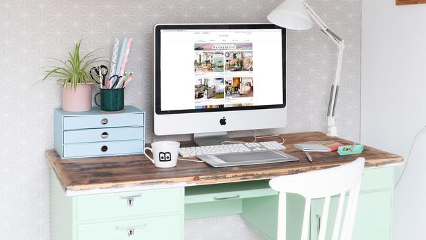 Mein neues home office styling ideen rund um den schreibtisch