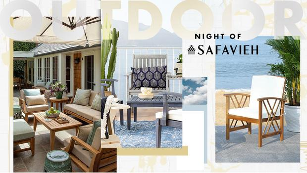 Safavieh: Outdoor-Upgrade
