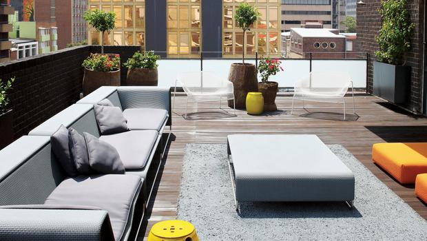 Cooler Dachterrassen-Style