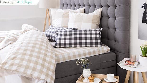 jill jim designs bettw sche mit karos und punkten westwing. Black Bedroom Furniture Sets. Home Design Ideas