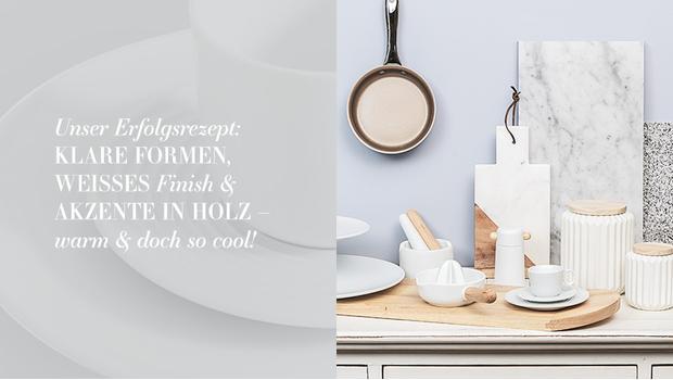 Trend-Küche in Weiß
