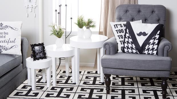 Kontrastreich wohnen Interieur in Schwarz-Weiß | Westwing