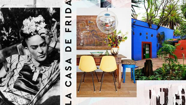 Stil-Hommage an Frida Kahlo
