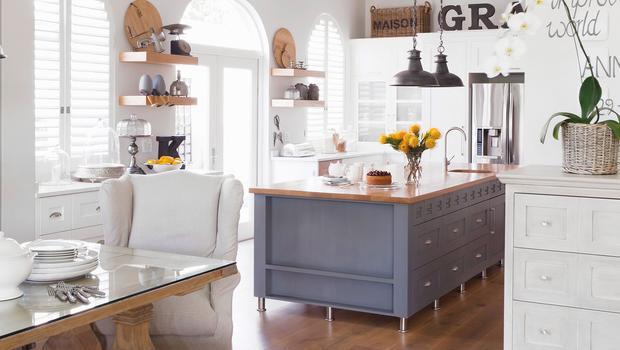 Gemütliches Wohnküchen-Flair