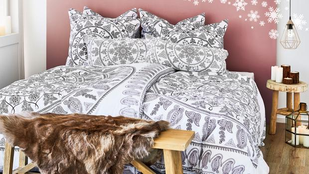 mandala muster f rs bett bettw sche mit stilvollem ethno touch westwing. Black Bedroom Furniture Sets. Home Design Ideas