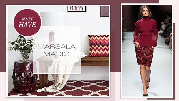 Die Modefarbe 2015: Marsala
