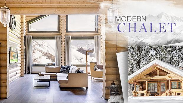 modernes chalet cooles wohngl ck westwing. Black Bedroom Furniture Sets. Home Design Ideas