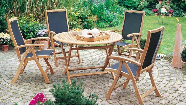 plo outdoor m bel aus teakholz westwing. Black Bedroom Furniture Sets. Home Design Ideas