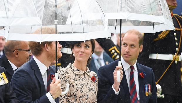 Die Regenschirme der Royals