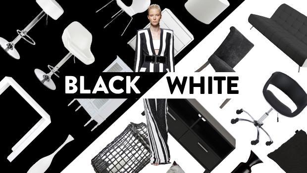 Schwarz auf weiß