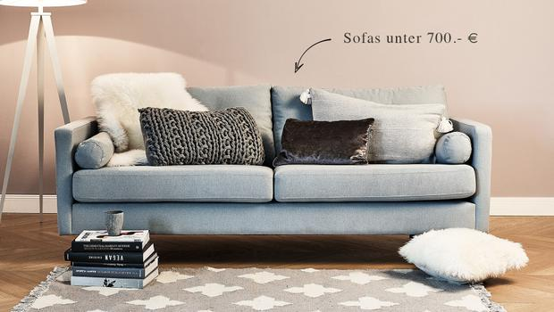 sofas unter 700 vom zweisitzer bis zur schlaf couch. Black Bedroom Furniture Sets. Home Design Ideas