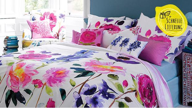 sommer bettw sche ab 14 mit floralen prints frischen farben westwing. Black Bedroom Furniture Sets. Home Design Ideas