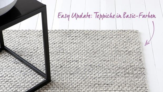 Schlichte Bodenkleider Teppiche In Dezenten Farben Westwing