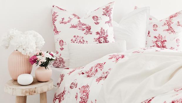 toile de jouy bettw sche der stoff aus dem tr ume sind. Black Bedroom Furniture Sets. Home Design Ideas